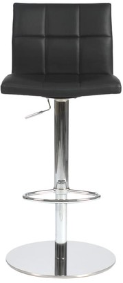Euro Style Cyd 22.5-30-inch Adjustbable Bar/ Counter Stool, Black/ Chrome