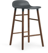 Normann Copenhagen Form Barstool H65cm Green/Walnut
