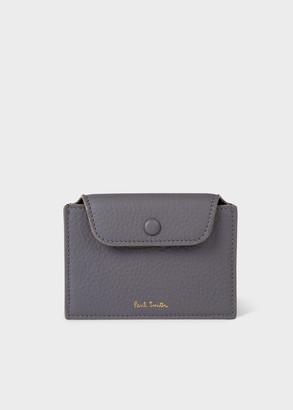 Paul Smith Women's Dusky Grey Leather 'Concertina' Card Holder