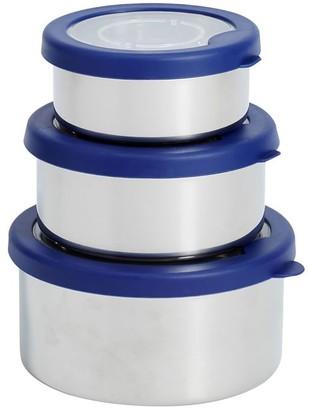 Pottery Barn Teen Navy/Silver Stainless Steel Nesting Bento Box