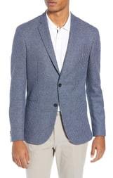 BOSS Norwin Slim Fit Stripe Cotton & Linen Sport Coat