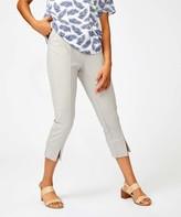 Minna Women's Casual Pants Color - Gray Slit-Cuff Pants - Women & Plus