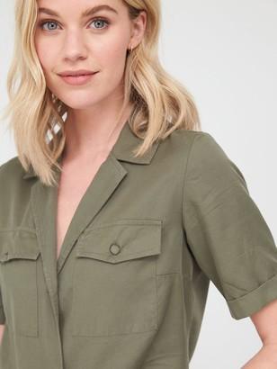 Very Short Sleeve Utility Shirt - Khaki