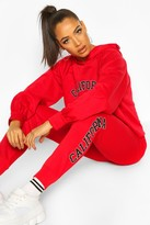 boohoo California West Coast Crop Hoodie Tracksuit