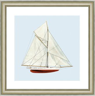 Vintage Print Gallery Nautical Motifs Sailing Vessel Framed Print