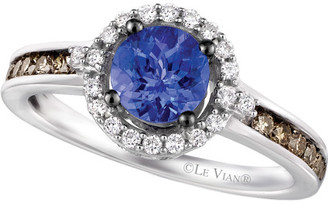 LeVian Le Vian 14K 1.02 Ct. Tw. White & Chocolate Diamond & Tanzanite Ring