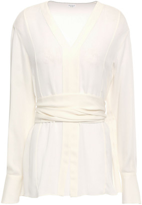 Brunello Cucinelli Tie-back Silk Crepe De Chine Blouse