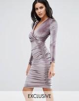 Club L Velvet Midi Dress