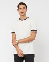 Farah Groves Ringer Short Sleeve T-Shirt White