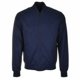 Fred Perry Tramline Tipped Bomber Jacket Navy