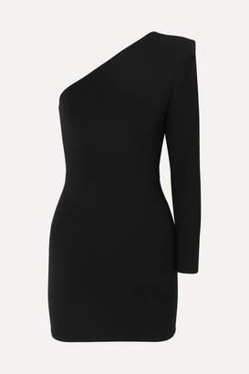 Alex Perry Ambre One-sleeve Crepe Mini Dress - Black