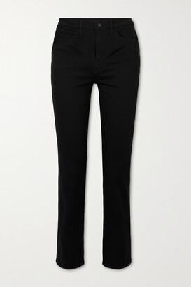 J Brand - Teagan High-rise Straight-leg Jeans - Black