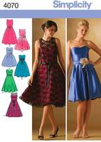 Simplicity Sewing Pattern 4070 Miss Petite Special Occasion Dresses