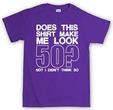 Customised Perfection Does This Make Me Look 50 - 50th Birthday Gift T Shirt L
