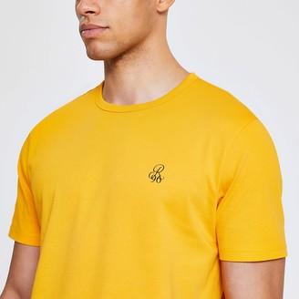 River Island Yellow R96 short sleeve slim fit T-shirt