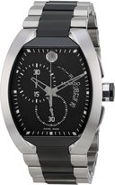 Movado Men's 0606699 Verto Tonneau PVD Stainless Steel Case and Bracelet Chrono Dial White Accents Watch