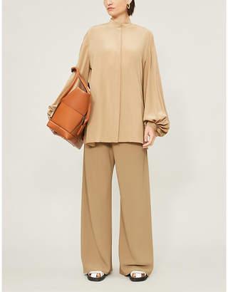 The Row Vara balloon-sleeve silk shirt