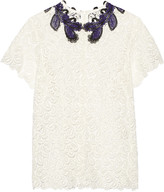 Mary Katrantzou Birk guipure lace top