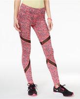 Material Girl Active Juniors' Printed Mesh-Inset Leggings, Created for Macy's