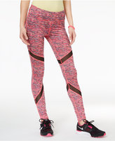 Material Girl Active Juniors' Printed Mesh-Inset Leggings, Only at Macy's