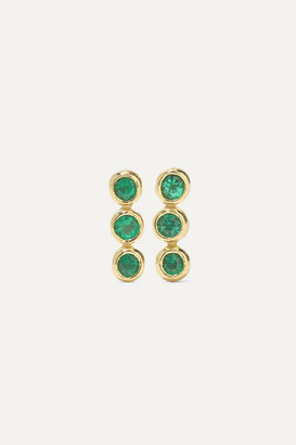 Jennifer Meyer 18-karat Gold Emerald Earrings
