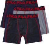 Fila Boy's Underwear 3-Pair Hanging Boxer Briefs Boys