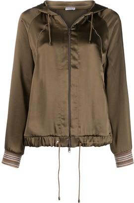 Brunello Cucinelli hooded bomber jacket