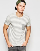 Selected Homme Stripe T-shirt With Contrast Pocket