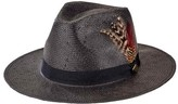 San Diego Hat Company Men's Woven Paper Fedora with Feathers SDH3015