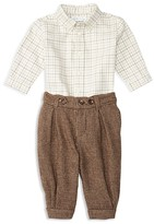 Ralph Lauren Infant Boys' Tattersall Shirt & Houndstooth Check Pants Set - Sizes 3-12 Months