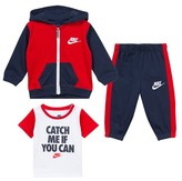 Nike Red and Obsidian Futura FZ Hoodie, Tee and Pants Outfit Set