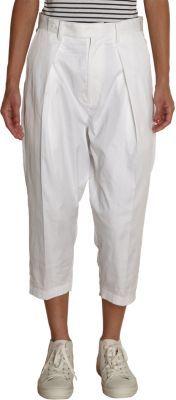 Yohji Yamamoto Back Tie Cropped Pants