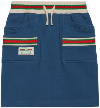 Gucci Children's cotton skirt with Web