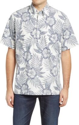 Reyn Spooner Diamond Lei Tropical Short Sleeve Button-Down Polo