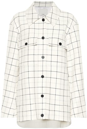 Tibi Windowpane Workmen checked coat