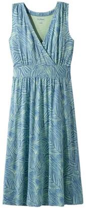 L.L. Bean L.L.Bean Women's Summer Knit Dress, Sleeveless Print