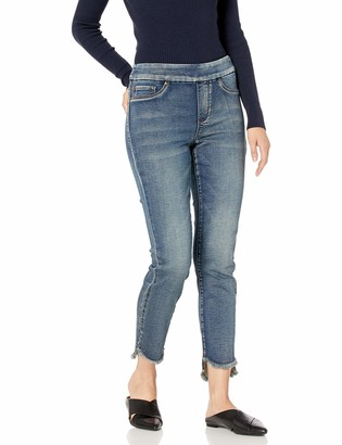 Tribal Women's Pull On Jegging with Curved Hem Medium Wash 6