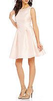 Jessica Simpson Round Neck Sleeveless Embellished Bow-Back Fit-and-Flare Dress