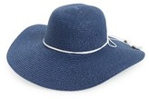 BP Women's Floppy Straw Hat - Blue
