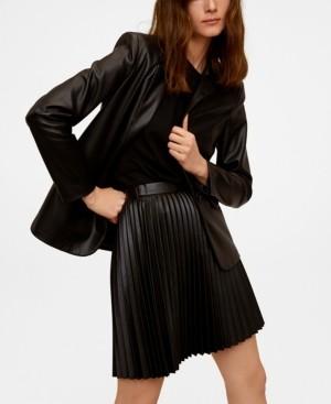 MANGO Mini Pleated Skirt