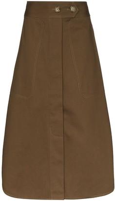 Lee Mathews Drill Midi Skirt