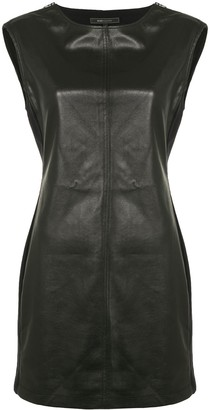 BCBGMAXAZRIA Sleeveless Leather Mini Dress