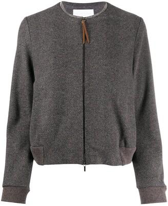 Fabiana Filippi Herringbone Knitted Jacket