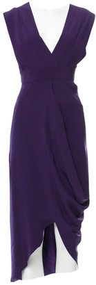 Zero Maria Cornejo Zero+maria Cornejo Purple Silk Dress for Women