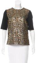 Rachel Comey Metallic Leopard Print Top