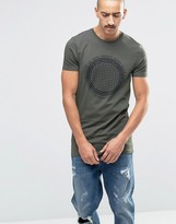 Asos Longline Muscle T-Shirt With Globe Print