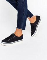 Fred Perry Phoenix Navy Canvas Flatform Sneakers
