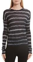 Helmut Lang Women's Helmut Lange Grunge Stripe Cashmere Sweater
