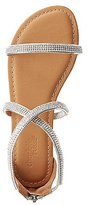 Charlotte Russe Rhinestone-Embellished Strappy Sandals