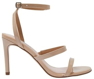 Pink Inc Testify Nude Patent Sandal